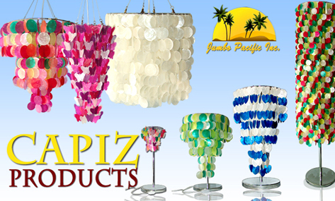 Raw shell of capiz lightings that suits your room as decrations in ...
